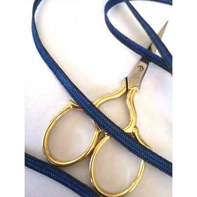 Ruban elastique pour bavettes bleu largeur mm.5 paquet MT.20