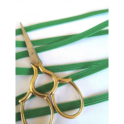 Braided elastic string green stretch band for masks width mm.6 pack. mt.20