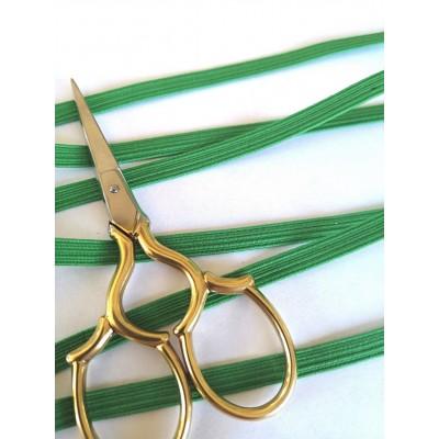 Treccia elastica verde per mascherine altezza mm.6 confezione mt.20