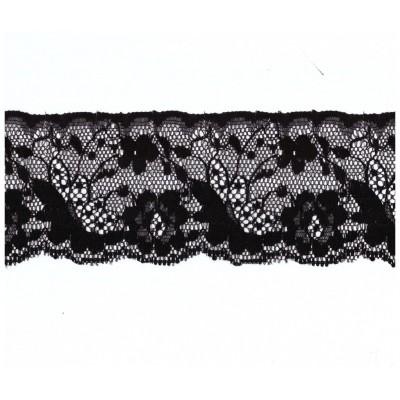 Raschel black lace ribbon width cm.6.5 pack mt.20 art.1003829