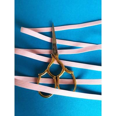 Tressè elastique ruban rose pour bavettes largeur mm.6 paquet mt.20