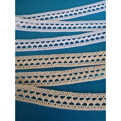 Edged Cotton Lace Trim Cluny Torchon width cm.2.5 pack mt.10 Art.1530