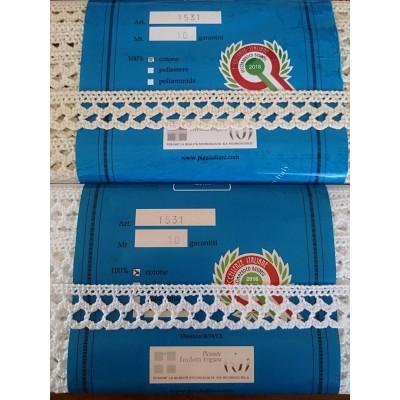 Pizzo Cotone Smerlo Merletto Tombolo altezza cm.2.5 confezione mt.10 ART.1531