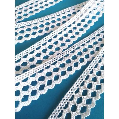 Cotton Scalloped Lace Trim Cluny Torchon width cm.3 pack mt.10 Art.1533