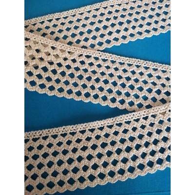Cotton Scalloped Lace Trim Cluny Torchon width cm.5.5 pack mt.10 Art.1533