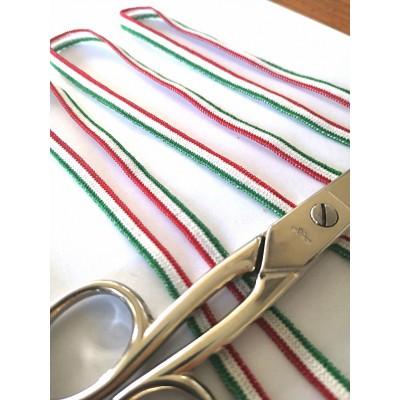 Nastro elastico tricolore italia morbido altezza mm.6 confezione mt.20