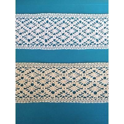 Cotton Lace Edge Ribbon width cm.7 mt.10 Art.0490