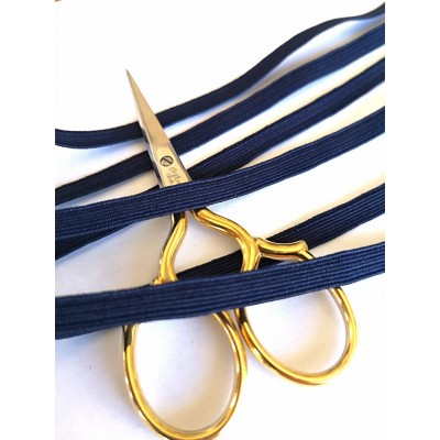 Braided elastic string blue stretch band for masks width mm.6 pack. mt.20