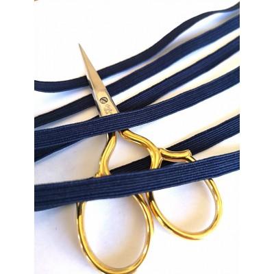 Treccia elastica blu per mascherine altezza mm.6 confezione mt.20