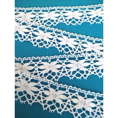Starfish Torchon Cluny Lace Trim width cm.4 pack mt.10 Art.1689