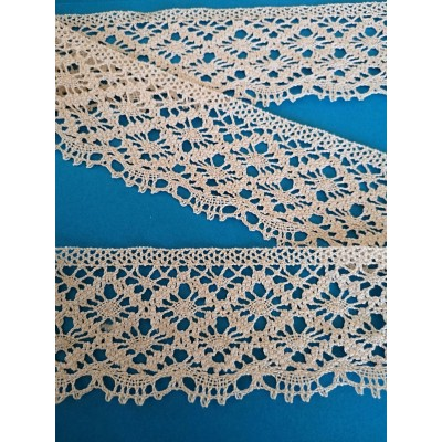 Cotton Scalloped Lace Trim Cluny Torchon width cm.5.5 pack mt.10 Art.0613