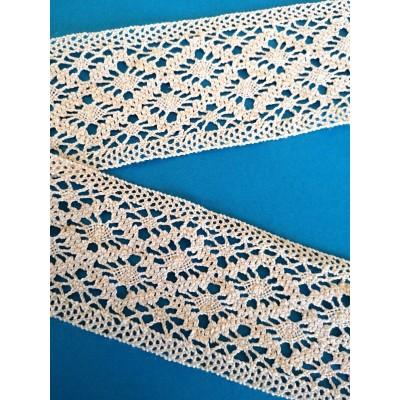 Cotton Bobbin Lace Edge Ribbon width cm.6 mt.10 Art.0612