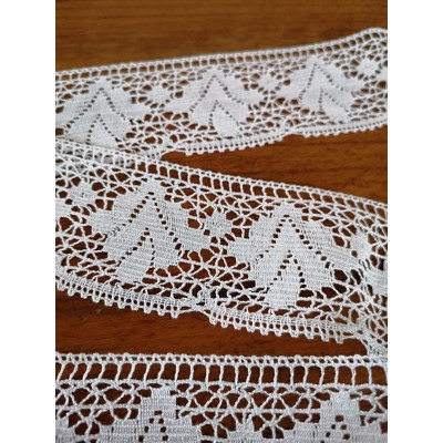 Cotton Scalloped Lace Trim Cluny Torchon width cm.6 pack mt.10 Art.0340