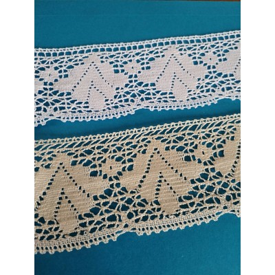 Cotton Scalloped Lace Trim Cluny Torchon width cm.7 pack mt.10 Art.0341
