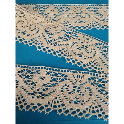 Cotton Scalloped Lace Trim Cluny Torchon width cm.6.5 pack mt.10 Art.0344