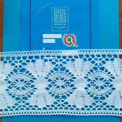 Encaje de Bolillos Entredos Alto en algodon Altura 13,5 cm paquete mt.10 art.1658