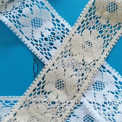 Encaje de Bolillos Entredos de algodón con motivos florales Alto cm.8 Paquete mt.10 ART.1667