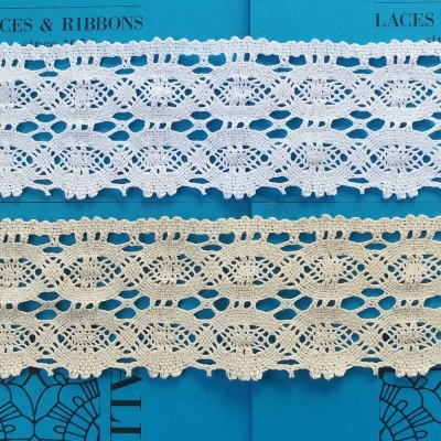 Scalloped Bobbin Lace for curtains with geometric design Height cm.9 Piece mt.10 Art.0967