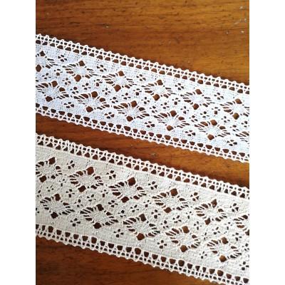 Dentelle aux fuseaux à motif géométrique Hauteur 6,5 cm Pièce 10 m Art.1351