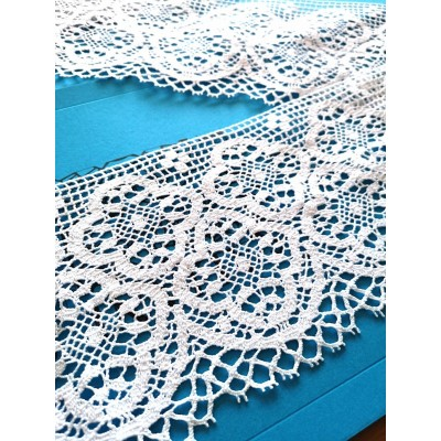 Scalloped Bobbin Lace with Arabesque Pattern Height 16 cm Piece 10 m Art.1825