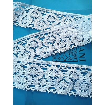 Scalloped Bobbin Cotton Lace width cm.8.5 pack mt.10 Art.0867