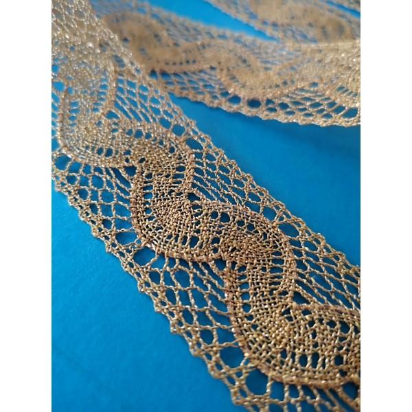 Encaje dorado de Lurex altura cm.3 mt.10 Art.1416