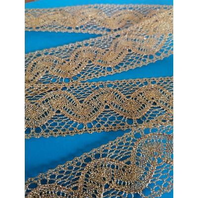 Torchon Lurex Gold Lace Trim Edge Ribbon cm.3 mt.10 Art.1416