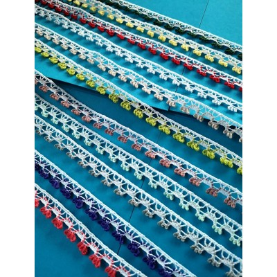 Dentelle coton ruban hauter cm.1 paquet mt.10 art.1476