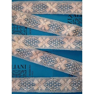 Dentelle aux fuseaux à motif géométrique Hauteur 6 cm Pièce 10 m Art.1336